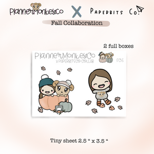 FC.5 | Cute Fall Full Box Stickers Tiny Sheet (Paperbitsco collab)