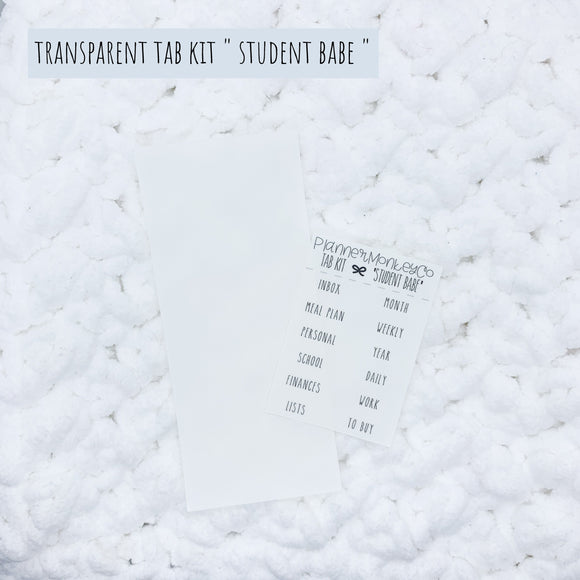'Student Babe' Minimal TAB Kit (Transparent)