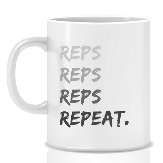 Reps reps reps - personalised mug - goal mug - inspirational mug - motivational mug - whattamug!