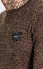 GK Brown Classic Knit Long Sleeve Tee, Clothing Sweaters, Gianni Kavanagh - Cupidanza