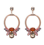 Earrings Cristal Pink, Accessories Earrings, Allure Accessoires - Cupidanza