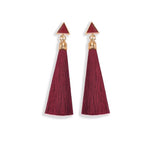Earrings Sharon Burgundy, Accessories Earrings, Allure Accessoires - Cupidanza