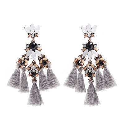 Earrings Stella Grey, Accessories Earrings, Allure Accessoires - Cupidanza