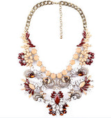 Allure Necklace Iliana Burgundy - Allure Accessoires - Accessories Necklaces