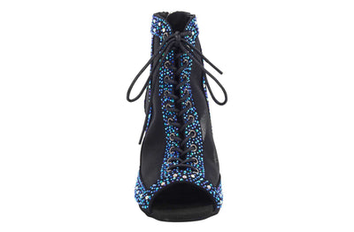 "Dancin Boots Special Edition ""Giada"" Black Blue Crystal"