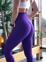 Lismina Scrunch Butt Purple Leggings