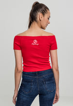 PBF Off Shoulder Tee Red