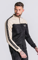 GK Black Suedette Jacket With Contrasting Details - Gianni Kavanagh - Clothing Jackets