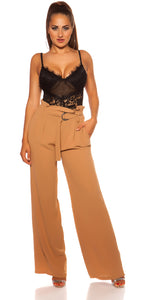 KouCla Paperbag Belted Pants Cappucino