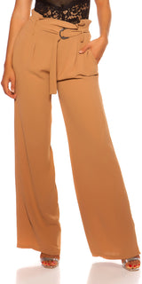 KouCla Paperbag Belted Pants Cappucino - KouCla - Clothing Trousers