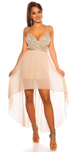 KouCla Party Mini Dress Glitter Beige