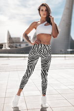 Ukwu Dance Zebra African Safari Style Leggings