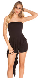 KouCla Bandeau Short Jumpsuit Black - KouCla - Clothing Dresses