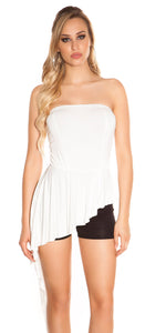 KouCla Bandeau Short Jumpsuit White - KouCla - Clothing Dresses