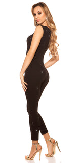 KouCla Party Time Glitter Jumpsuit Black - KouCla - Clothing Dresses