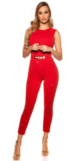 KouCla Party Time Glitter Jumpsuit Red - KouCla - Clothing Dresses