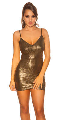 KouCla Party Mini Dress Gold