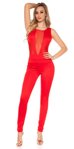 KouCla Net Jumpsuit Red - KouCla - Clothing Dresses
