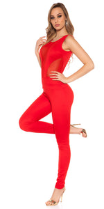 KouCla Net Jumpsuit Red