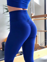 Lismina Scrunch Butt Blue Leggings