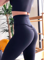 Lismina Scrunch Butt Black Leggings