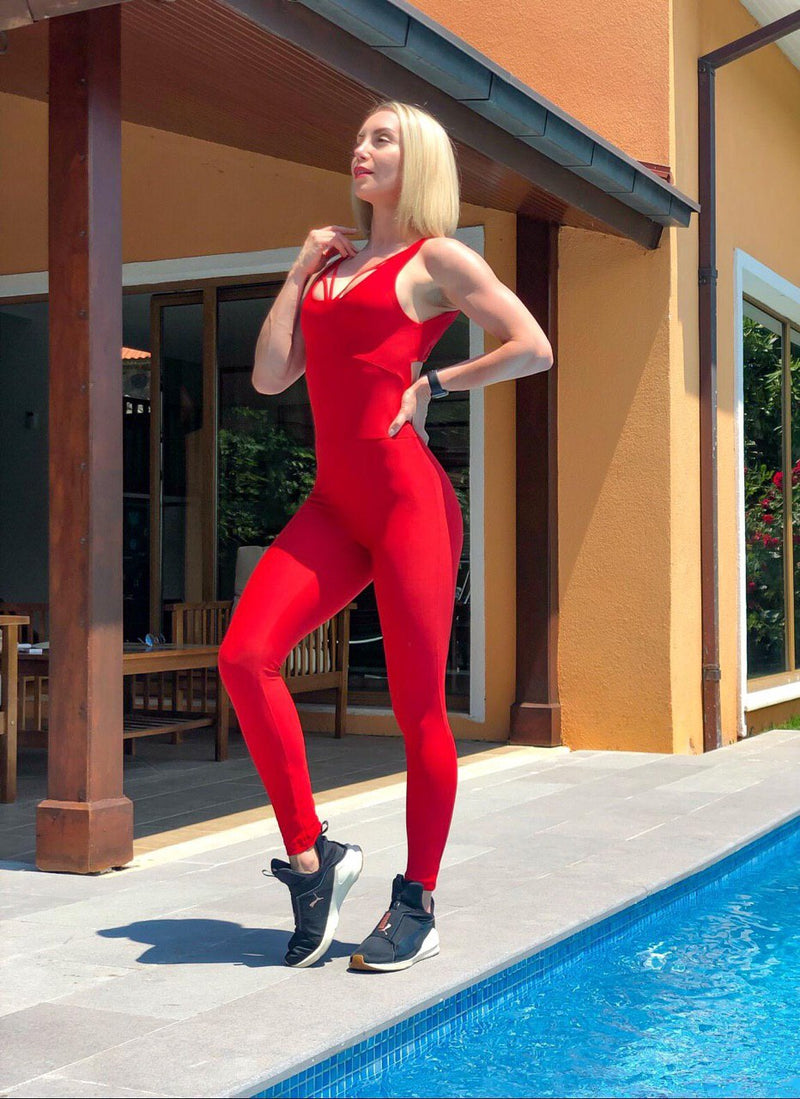 Lismina Jumpsuit 2400 Red - Lismina - Jumpsuit