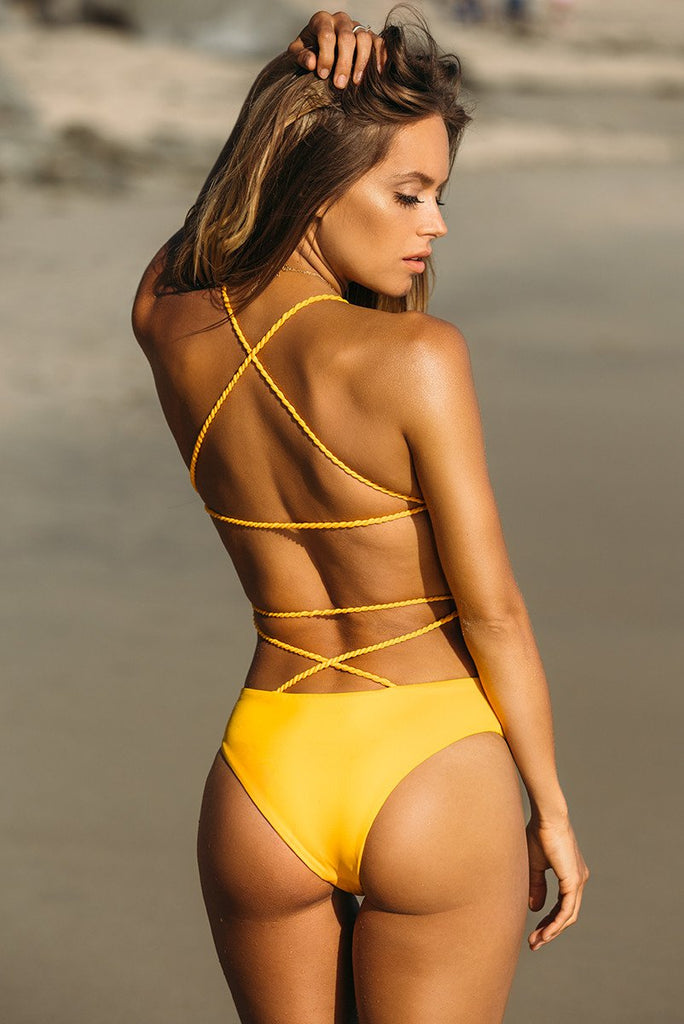 """Sunshine"" One Piece - Sexy, Cute Luxury Swimwear - Lunous Bikini"