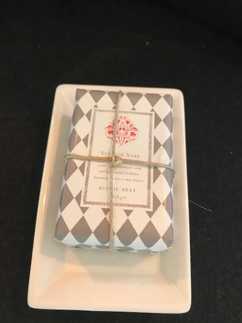 Scented soap with ceramic dish