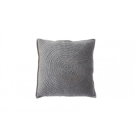 60 x 60 cm Circle Grey Velvet Cushion