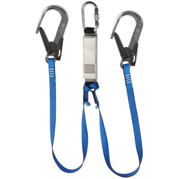 IK13FB xxx Y3 - Twin Legged Webbing Energy Absorbing Lanyard - The PPE Shop
