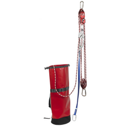 Pre-Rigged Rescue Pulley System with 1 Way Locking Cam - The PPE Shop