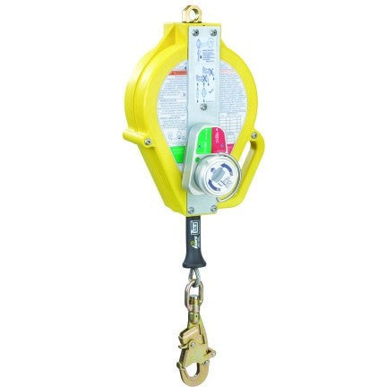 Ultra-Lok™ 15 m - RSQ model. Galvanised cable. Thermoplastic housing. 5 mm cable. Double action swivel connector. With fall indicator. 18 mm opening. Anti ratchet system i-Safe equipped - The PPE Shop