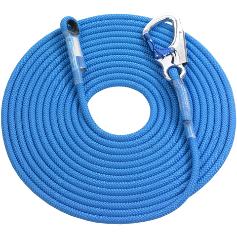 IK80K11C xxx 85 - 11mm Kernmantle Rope with Sewn Eye (Blue) - The PPE Shop