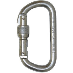 10mm Foin D Steel Screwgate Carabiner (Serialised) - The PPE Shop