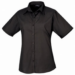 Premier Workwear Women's Ladies Short Sleeve Poplin Blouse - The PPE Shop