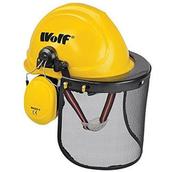Wolf Safety Hard Hat Combination Helmet Set with Protective Ear Defender Guard and Face Visor - The PPE Shop
