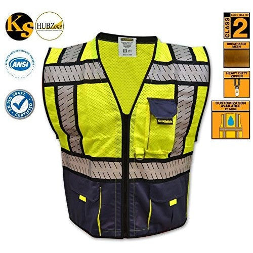 KwikSafety High Visibility Hi Vis Waistcoat - The PPE Shop