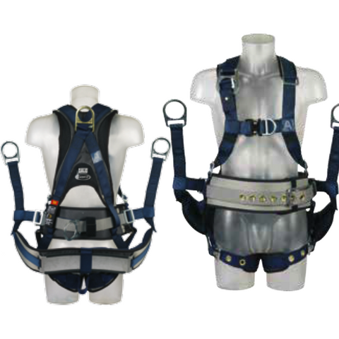 Derrick front and rear attachment with extension belt and restraint D can be used with ExoFit aluminium seat sling. Adjustable shoulders, waist and legs. Quick connect buckles, tongue buckle. i-Safe equipped. Breathable comfort pads - The PPE Shop