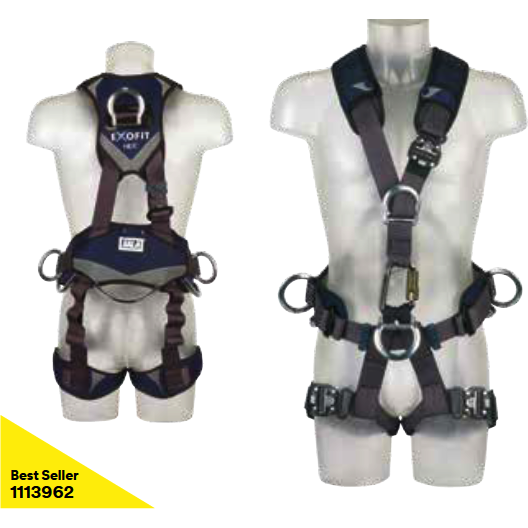Front and rear fall arrest points, and work positioning belt. Adjustable shoulders, waist and legs. Lockable quick connect buckles on legs and shoulder. i-Safe equipped - The PPE Shop