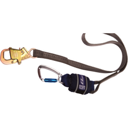Wrapbax, Twin leg, 2 m Length with Aluminium Twist Lock Carabiner, 20 mm Gate Opening Body<br>  Connector and Steel Wrapbax, 21 mm Gate Opening Anchor Connector - The PPE Shop