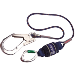 DBI-SALA Edge Tested Shock Absorbing Lanyard, Single leg, 2 m Length with Aluminium Triple Lock<br>  Carabiner, 20 mm Gate Opening Body Connector and Aluminium Scaffold Hook, 60 mm Gate Opening<br>  Anchor Connector - The PPE Shop