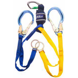 EZ-Stop Scaffold Hook Tie Back Lanyard - Twin Leg, 1.65 m - The PPE Shop
