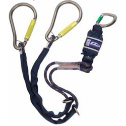 EZ-Stop Pear Hook Tie Back Lanyard - Twin Leg, 1.65 m - The PPE Shop