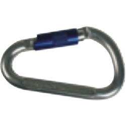 Aluminium twist lock carabiner 21 mm opening. 25 kN - The PPE Shop