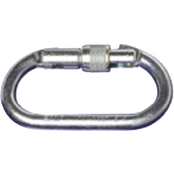 Steel screw gate carabiner 17 mm opening 25 kN breaking strength - The PPE Shop
