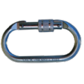 45 mm dia, 1 x AJ501 steel screw gate carabiner, 17 mm opening and 1 x 9509437 steel snaphook, 19 mm opening - The PPE Shop
