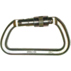 Steel screw gate carabiner 25 mm opening, 50 kN breaking strength - The PPE Shop