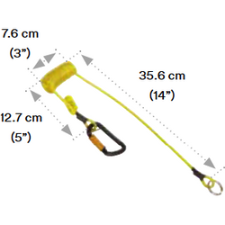 3M™ DBI-SALA® Hook2QuickRing Coil Tether with Tail - The PPE Shop