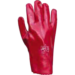 Red Pvc Gauntlets - The PPE Shop