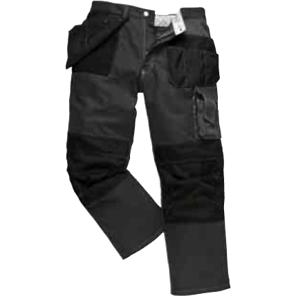 Black Contrast Action Trouser - The PPE Shop